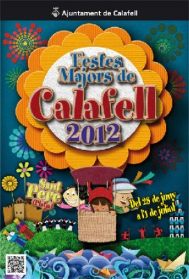 Cartell festes majors de Calafell 2012